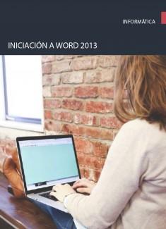 Iniciación a word 2013