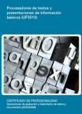 UF0510 - Procesadores de textos y presentaciones de información básicos