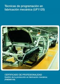 UF1125 - Técnicas de programación en fabricación mecánica