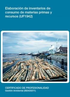 UF1942 - Elaboración de inventarios de consumo de materias primas y recursos
