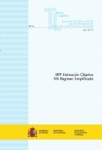 """Libro TEXTO LEGAL Nº 4/2019 """"IRPF ESTIMACIÓN OBJETIVA - IVA RÉGIMEN SIMPLIFICADO"""", autor Libros del Ministerio de Hacienda"""