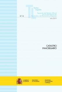 "TEXTO LEGAL Nº 12/2019 ""CATASTRO INMOBILIARIO"""