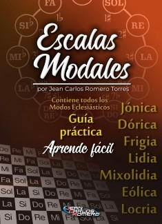 Guía completa de ESCALAS MODALES: Aprende Fácil las escalas Jónicas, Dóricas, Frigias, Lidias, Mixolidias, Eólicas y Locrias.