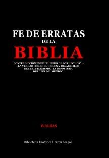 Fe de Erratas de la Biblia