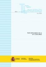 """Libro TEXTO LEGAL Nº 8/2020 """"TEXTO REFUNDIDO DE LA LEY CONCURSAL"""" (Actualización octubre 2020), autor Libros del Ministerio de Hacienda"""