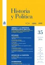 Libro Historia y Política, nº 35, enero-junio, 2016, autor EDITORIALCEPC