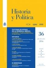 Libro Historia y Política, nº 36, julio-diciembre, 2016, autor EDITORIALCEPC