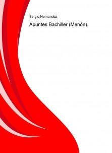 Apuntes Bachiller (Menón).