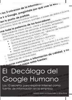 El Decálogo del Google Humano para profesionales y directivos