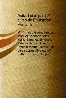 Actividades para 2º curso de Educación Primaria