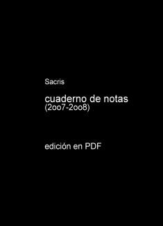 cuaderno de notas (2007-2008)
