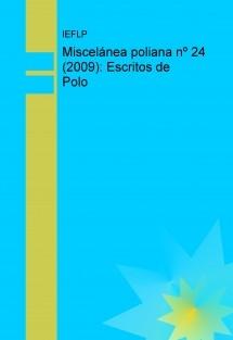 Miscelánea poliana nº 24 (2009): Escritos de Polo