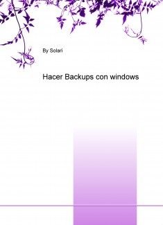 Hacer Backups con windows