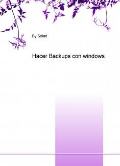 Hacer Backups con windows