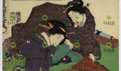 Afición a la caligrafía y la pintura : Nijushiko imayo bijin. Shogazuki