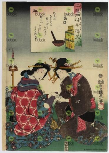 Afición a los pequeños pájaros : Nijushiko imayo bijin. Kotorizuki