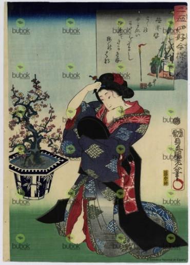 Afición a la ceremonia del te : Nijushiko imayo bijin. Cha no kaizuki
