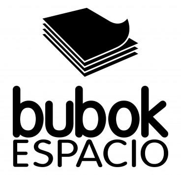 Logo espacio bubok en blanco y negro