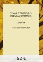 TEMARI D'OPOSICIONS D'EDUCACIÓ PRIMÀRIA    2na Part
