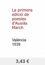 La primera edició de poesies d'Ausiàs March